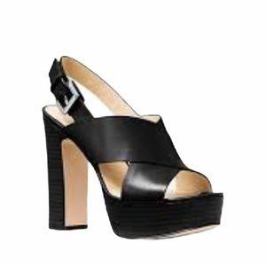 Michael Kors platform sling back leather sandals